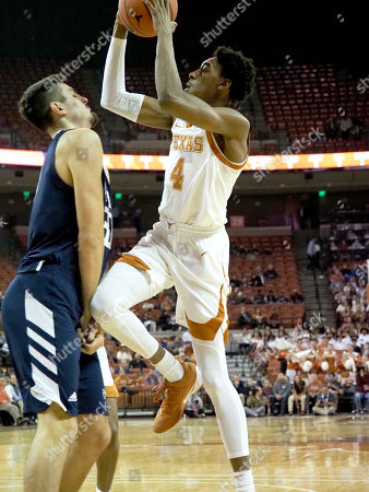 Donovan Williams #4 of the Texas Longhorns in action vs the California Baptist Lancers at the Frank Erwin Center in Austin Texas. Texas defeats California Baptist 67-54