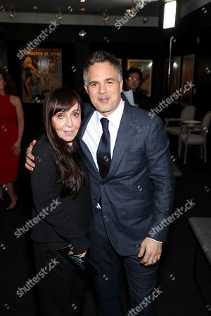 Stock Image of Bonnie Timmermann and Mark Ruffalo