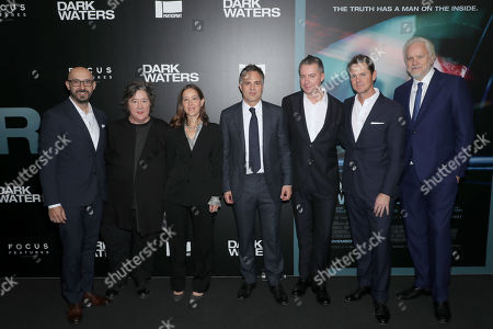 Peter Kujawski (Chairman Focus Features), Christine Vachon (Producer), Pamela Koffler (Producer), Mark Ruffalo, Robert Walak (President FF), Jason Cassidy (VICe Chariman FF) and Tim Robbins