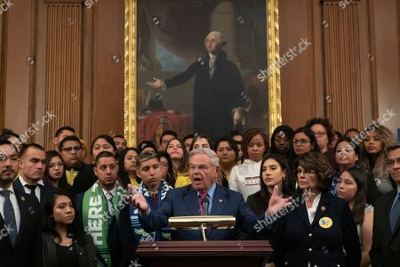 Editorial image of Deferred Action for Childhood Arrivals press conference, Capitol Hill, Washington DC, USA - 12 Nov 2019