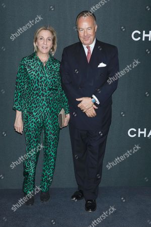 Stock Image of Susan Rockefeller and David Rockefeller Jr