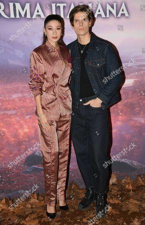 Stock Picture of Madalina Doroftei and Alessandro Egger