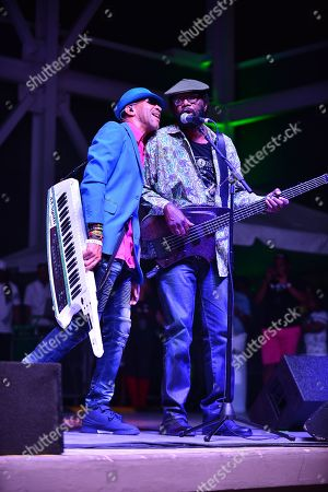 "Jamaican reggae fusion band Norris ""Noreiga"" Webb and Richard M Daley of Third World perform"