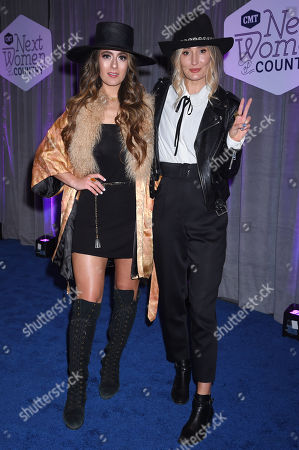 Alyssa Bonagura and Ruby Stewart of The Sisterhood Band
