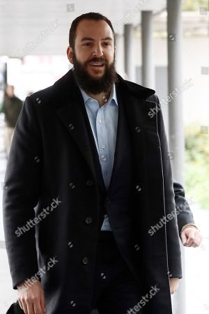 Borja Thyssen-Bornemisza, son of Baroness Thyssen, Carmen Cervera, arrives at the court to attend his trial for alleged tax fraud in Madrid, Spain, 13 November 2019. The defendant is accused of defrauding around 600,000 euro in 2007. The Spanish public prosecutor office has asked for a two-year jail sentence against Borja Thyssen-Bornemisza and a fine of 595,000 euro.