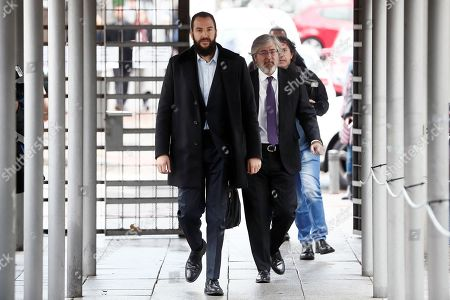 Borja Thyssen-Bornemisza (L), son of Baroness Thyssen, Carmen Cervera, arrives at the court to attend his trial for alleged tax fraud in Madrid, Spain, 13 November 2019. The defendant is accused of defrauding around 600,000 euro in 2007. The Spanish public prosecutor office has asked for a two-year jail sentence against Borja Thyssen-Bornemisza and a fine of 595,000 euro.