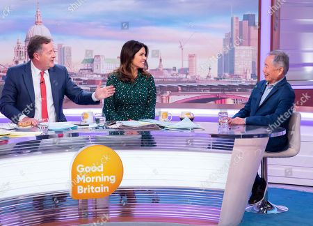 Stock Picture of Piers Morgan and Susanna Reid with George Takei