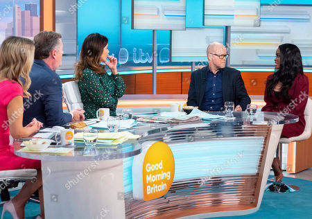 Piers Morgan and Susanna Reid with Toby Young and Joanna Jarjue