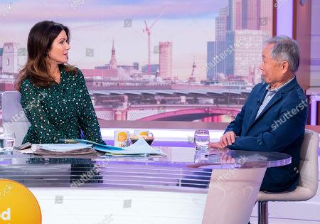 Piers Morgan and Susanna Reid with George Takei