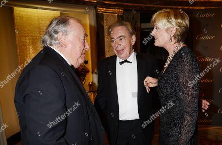 Stock Photo of Anthony Oppenheimer with Sir Andrew Lloyd Webber and Madeleine Lloyd Webber