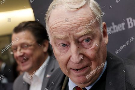 Co-chairman of the German right-wing Alternative for Germany (AfD) party Alexander Gauland (R) attends with Stephan Brandner (L) of AfD a press conference after the meeting of the Legal Affairs Committee of the Bundestag, in Berlin, Germany, 13 November 2019. The Committee on Legal Affairs of the Bundestag wants to relieve its chairman Stephan Brandner of the office. The AfD politician from Thuringia had provoked outrage with his reactions to the terrorist attack in Halle. The Bundestag has officially reprimanded Brandner. Most recently, he vilified the awarding of the Federal Cross of Merit to the AfD-critical German rock singer Udo Lindenberg as a 'Judas rewarding'.