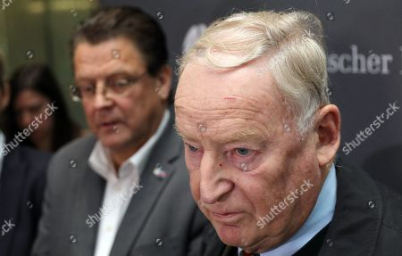 Co-chairman of the German right-wing Alternative for Germany (AfD) party Alexander Gauland (R) attends with Stephan Brandner (L) of AfD a press conference after the meeting of the Legal Affairs Committee of the Bundestag, in Berlin, Germany, 13 November 2019. The Committee on Legal Affairs of the Bundestag relieved its chairman Stephan Brandner of the office. The AfD politician from Thuringia had provoked outrage with his reactions to the terrorist attack in Halle. The Bundestag has officially reprimanded Brandner. Most recently, he vilified the awarding of the Federal Cross of Merit to the AfD-critical German rock singer Udo Lindenberg as a 'Judas rewarding'.