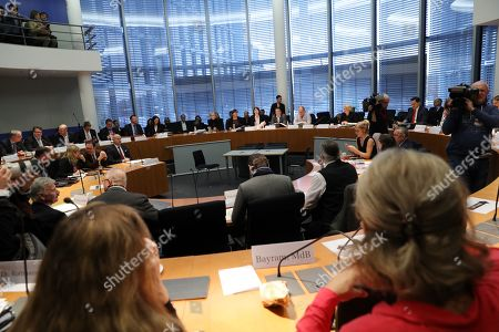 A general view of the meeting of the Legal Affairs Committee of the Bundestag, in Berlin, Germany, 13 November 2019. The Committee on Legal Affairs of the Bundestag relieved its chairman Stephan Brandner of the office. The AfD politician from Thuringia had provoked outrage with his reactions to the terrorist attack in Halle. The Bundestag has officially reprimanded Brandner. Most recently, he vilified the awarding of the Federal Cross of Merit to the AfD-critical German rock singer Udo Lindenberg as a 'Judas rewarding'.