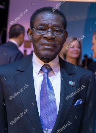 Stock Photo of Teodoro Obiang Nguema Mbasogo, President of Equatorial Guinea
