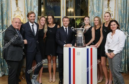 Editorial picture of French Fed Cup tennis team at Elysee Palace in Paris, France - 12 Nov 2019