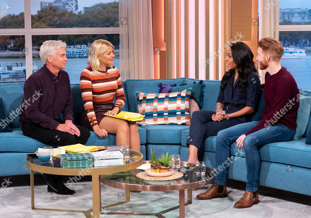 Phillip Schofield and Holly Willoughby with Alex Scott and Neil Jones
