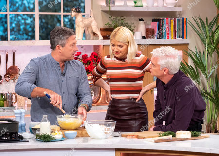 Phillip Schofield and Holly Willoughby with John Torode