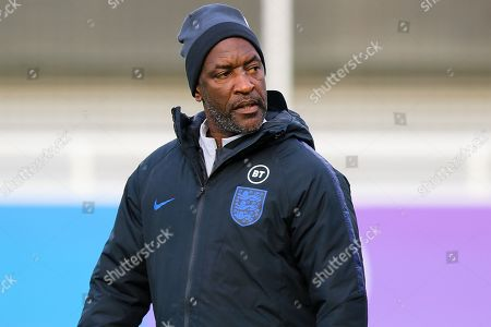 England coach Chris Powell during the England football team training session at St George's Park National Football Centre, Burton-Upon-Trent