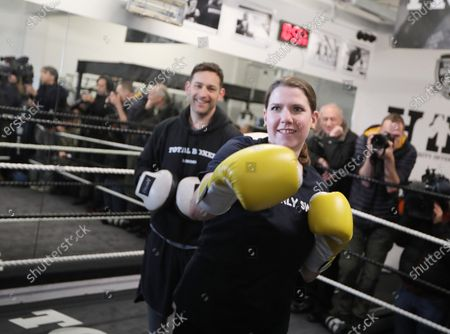 Lib Dem leader Jo Swinson visit to Total Boxer, in Crouch End a specialised boxing gym which offers training to young people as a means of keeping them away from violence.