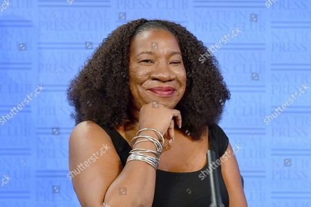 Me Too movement founder Tarana Burke at the National Press Club (NPC) in Canberra, Australian Capital Territory, Australia, 13 November 2019. Tarana Burke, alongside Tracey Spicer, will be awarded with the 2019 Sydney Peace Prize on 14 November 2019 in the Sydney Town Hall.