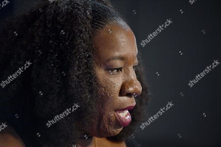 Me Too movement founder Tarana Burke speaks at the National Press Club (NPC) in Canberra, Australian Capital Territory, Australia, 13 November 2019. Tarana Burke, alongside Tracey Spicer, will be awarded with the 2019 Sydney Peace Prize on 14 November 2019 in the Sydney Town Hall.