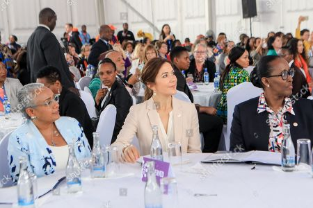 First Lady of Kenya Margaret Kenyatta (L), Danish Crown Princess Mary (C) and First Lady of Rwanda Jeannette Kagame (R) during a panel discussion 'Women Leaders High Level Dialogue', on the sidelines of the Nairobi Summit on International Conference on Population and Development (ICPD25), in Nairobi, ?Kenya, 13 November 2019. The summit takes place from 12 to 14 November.