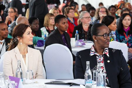 Danish Crown Princess Mary (L) and First Lady of Rwanda Jeannette Kagame (R) during a panel discussion 'Women Leaders High Level Dialogue', on the sidelines of the Nairobi Summit on International Conference on Population and Development (ICPD25), in Nairobi, ?Kenya, 13 November 2019. The summit takes place from 12 to 14 November.
