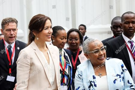 First Lady of Kenya Margaret Kenyatta (2-R), and Danish Crown Princess Mary (2-L) attend a panel discussion 'Women Leaders High Level Dialogue', on the sidelines of the Nairobi Summit on International Conference on Population and Development (ICPD25), in Nairobi, ?Kenya, 13 November 2019. The summit takes place from 12 to 14 November.