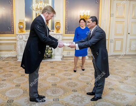 Presentation of the credentials of the ambassador of the Republic of Turkmenistan, Z.E. Tchary Atayev to King Willem-Alexander at Noordeinde palace
