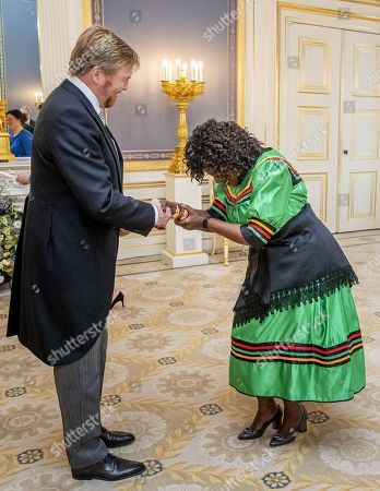 Presentation of the credentials of the ambassador of the Republic of Zambia, H.E. Esther Muketwa Munalula Nkandu to King Willem-Alexander at Noordeinde palace