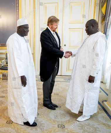Presentation of the credentials of the ambassador of the Republic of Mali, Z.E. Mamadou Madjou Berthe to King Willem-Alexander at Noordeinde palace