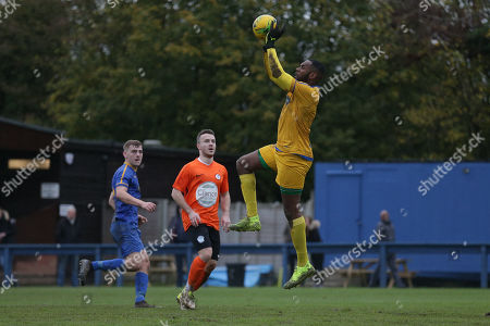 Stock Picture of Anthony Page of Romford during Romford vs Soham Town Rangers, BetVictor League North Division Football at the Brentwood Centre on 2nd November 2019