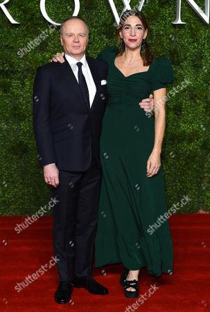 Stock Photo of Jason Watkins and Clara Francis