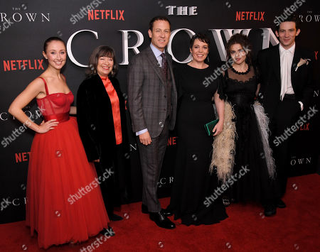 Stock Picture of Erin Doherty, Marion Bailey, Tobias Menzies, Olivia Colman, Helena Bonham Carter and Josh O'Connor
