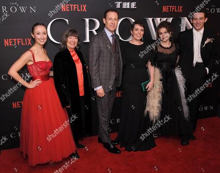 Erin Doherty, Marion Bailey, Tobias Menzies, Olivia Colman, Helena Bonham Carter and Josh O'Connor