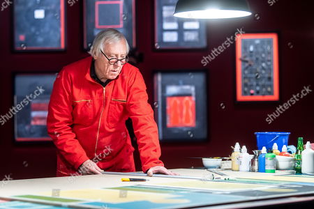 British film director Peter Greenaway works during the World of Saskia Boddeke & Peter Greenaway exhibition at the at the Centre Of Contemporary Art in Torun, Poland, 13 November 2019. The Exhibition will run until 01 March 2020.
