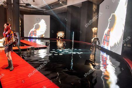 Editorial photo of World of Saskia Boddeke & Peter Greenaway exhibition in Torun, Poland - 13 Nov 2019