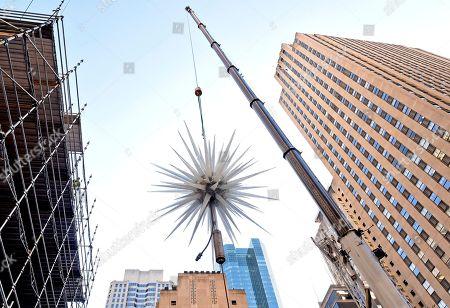 Editorial picture of 2019 Rockefeller Center Christmas Tree Star Raising, New York, USA - 13 Nov 2019