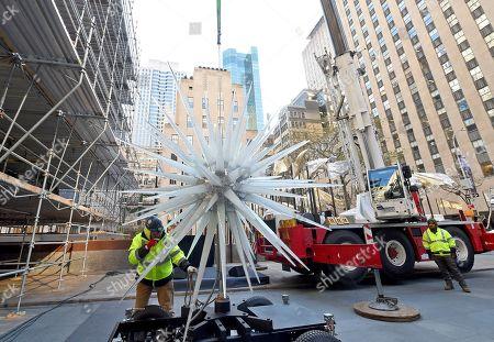Editorial photo of 2019 Rockefeller Center Christmas Tree Star Raising, New York, USA - 13 Nov 2019