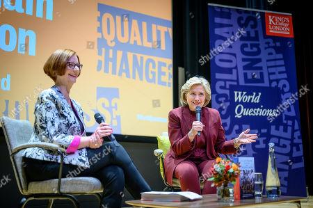 Stock Image of Julia Gillard and Hillary Clinton