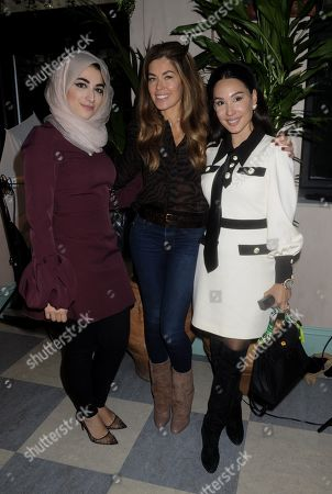 Stock Photo of Dr Marwa, Sophie Stanbury and Lucy