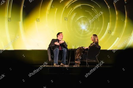 Stock Image of Quentin Tarantino in conversation with Francine Stock