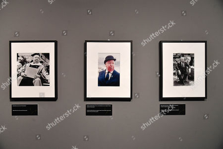 """Editorial image of Photo exhibition """"Alfred Hitchcock in the Universal Pictures films"""" in Genoa, Genova, Italy - 13 Nov 2019"""