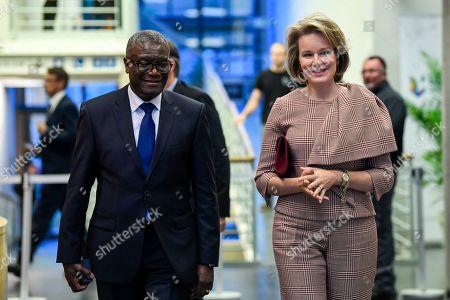 Stock Picture of Denis Mukwege and Queen Mathilde