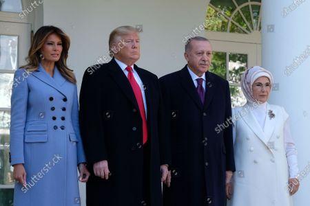 Editorial image of Turkish President Recep Tayyip Erdogan visit to Washington DC, USA - 13 Nov 2019