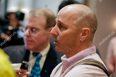New York Yankees general manager Brian Cashman speaks at a media availability during the Major League Baseball general managers annual meetings, in Scottsdale, Ariz