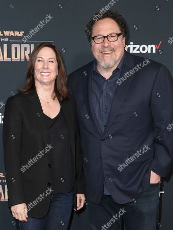 Kathleen Kennedy and Jon Favreau
