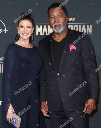 Christine Kludjian and Carl Weathers