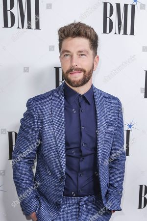 Chris Lane arrives at 67th Annual BMI Country Awards ceremony at BMI Music Row offices, in Nashville, Tenn