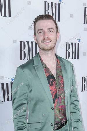 Brandon Lancaster arrives at 67th Annual BMI Country Awards ceremony at BMI Music Row offices, in Nashville, Tenn
